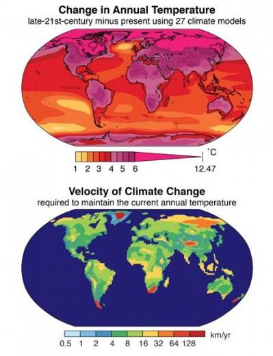 Aumento en las temperaturas