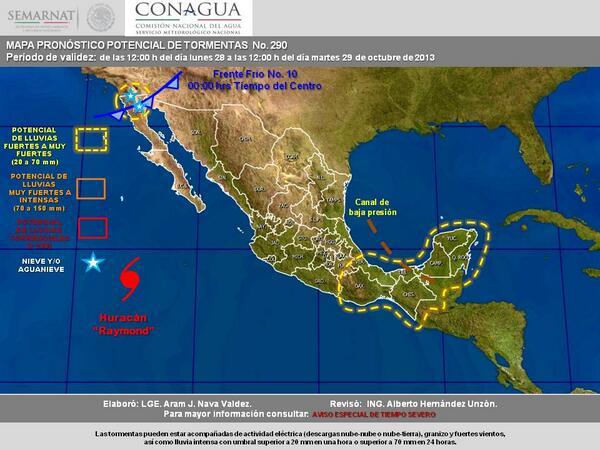 Huracanes en mexico